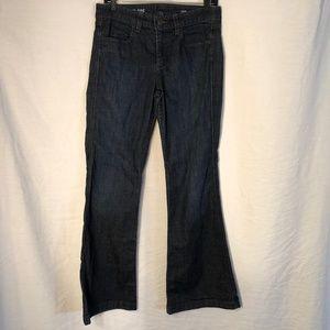 J Crew 29 Jeans High Heel Flare Blue 1233